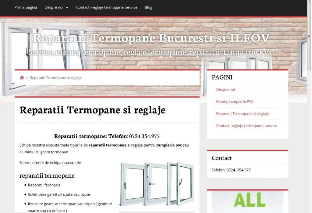 Crearea Site ieftin exemplu